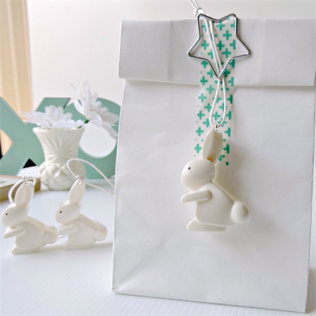 EASTER GIFT TAGS - handmade resin gift tags in chalk white