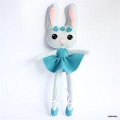 Ballerina Bunny in Blue made to order