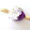 Pretty Purple and white Polka Dot Baby & Girls Flower Headband