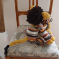 Leonardo: hand crocheted Lion by CuddleCorner: OOAK, Washable, browns
