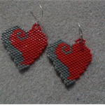 Valentines Heart Beaded Earrings