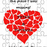 Personalised Valentine's Day Wooden Jigsaw Puzzle