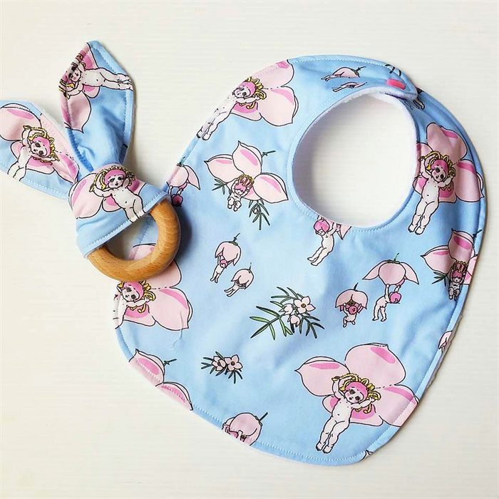 Gorgeous Baby Gifts Australia : Australian gumnut babies pink baby bib and teether