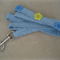 Blue and White Gingham Dog Leash