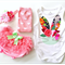 Easter Bunny Baby's 1st Easter Floral Onesie Girls Bunny Tshirt