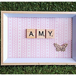 Handmade Personalised Wooden Scrabble Frame (small)