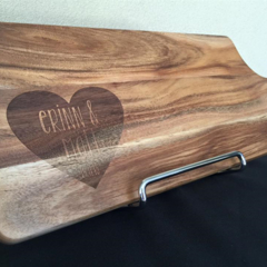 CUSTOM Acacia wood etched chopping boards.