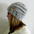 Super Chunky Spiral Knit Slouchy Beanie Adult in Oatmeal – Ready to Ship