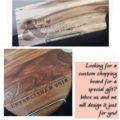 CUSTOM Acacia wood etched chopping boards. Perfect gifts for ALL occasions.