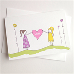 Mum Love heart card.Free Post.
