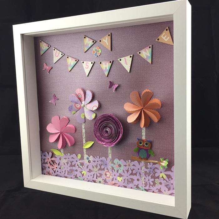 3d Flower Paper Garden Nursery Wall Art Frame Moncraft