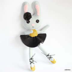 Black and Gold Ballerina Bunny