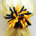 Large 'Curlz' School Hair Clip (1) - Custom Made in school colors