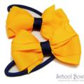Layered School Hair Ties (2) -  Custom Made in school colors