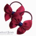 'Bellaflies' School Hair Ties (2) -  Custom Made in school colors