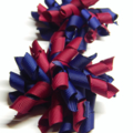 Mini 'Curlz' School Hair Clips (2) -  Custom Made in school colors