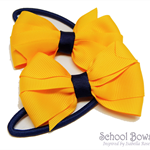 Layered School Hair Ties  -  Custom Made in school colors