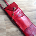 Red Leather bag, quiver style