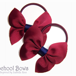 'Bellaflies' School Hair Ties (2) -  Custom Made in school colors