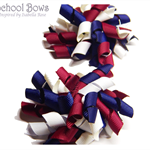 Mini 'Curlz' School Hair Clips -  Custom Made in school colors