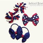 Bella 'Fun' School Bow Pack -  Custom Made in school colors
