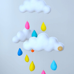 "Cloud trio mobile ""Summer"""