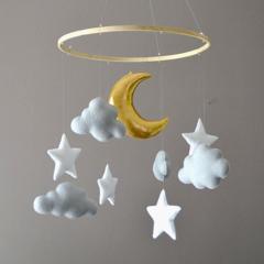 Stars & moon nursery mobile