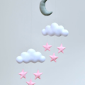 Clouds, Stars and moon mobile