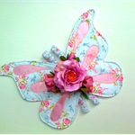 Appliqued Butterfly Fairy Flower Wings ...