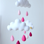 "Cloud trio mobile ""Pinks"""