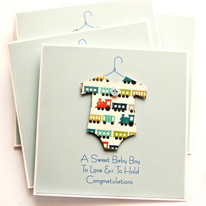 baby boy card trains new baby newborn baby suit son grandson