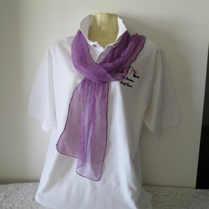 Silk Scarves Gumtree: Hand Painted Silk Gauze Scarf - Purple