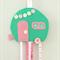 Caravan hair clips holder, felt, retro, mint green, pink