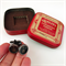 Typewriter-key cufflinks in vintage red Quality tin - lucky number '8' keys