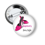 10 Hens party badges - Shoes add your text.