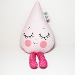 Pastel pink rain drop rattle