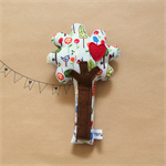 Tree Rattle - Baby rattle with red love heart