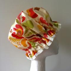 Shower Cap. Handmade Laminated Cotton. PVC Free / BPA Free. Eco - Friendly. Gift