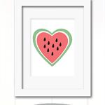 watermelon heart print