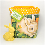 Fabric Storage Bucket Easter Bunny Large Reversible