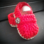 Red Malachi Slipper. 3-6 months old size