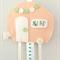 Caravan hair clips holder, felt, retro, soft peach, pastel