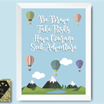Nursery Print / Kid's Wall Decor / Hot Air Balloon Quote