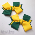 Twisted School Hair Ties (2) -  Custom Made in school colors