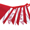 Valentine Bunting - Red & White Botanica Flags . Shop or Market Banner