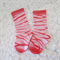 Hand Painted  Socks - Red - 2-3 yrs