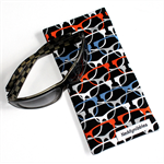 Padded Sunglasses Pouch in Colourful Glasses Fabric