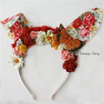 Cherry Easter bunny ears PREORDER by Vintage Fairy