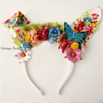 Ruby  Easter bunny ears PREORDER by Vintage Fairy
