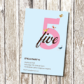 Fifth Birthday Invitation - Printable and Personalised